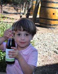 Sparkling grape juice and activities for kids